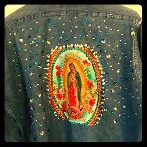 Blue Jean Shirt decorated